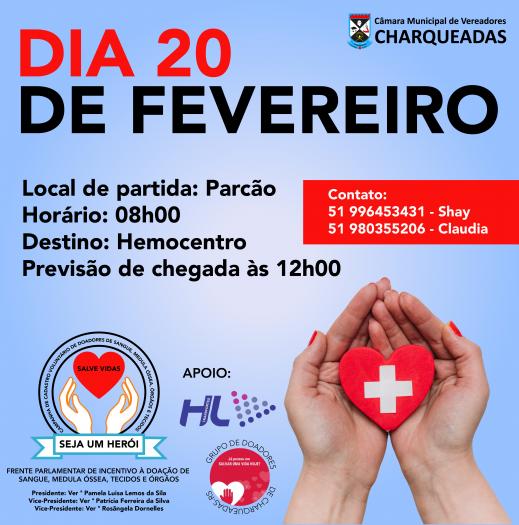 CONDUÇÃO AO HEMOCENTRO PARA DOAÇÃO DE SANGUE